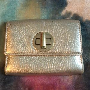 Tiffany golden leather Wallet Very Good Condition